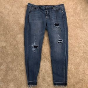 Destroyed Lane Bryant Jeans sz 18 AWESOME!!
